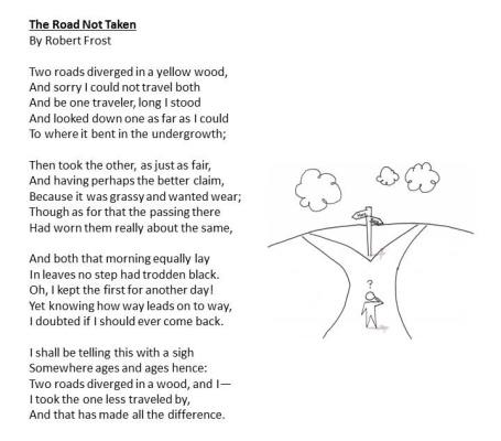 Road Not Taken Robert Frost
